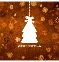 Christmas Tree card template vector image