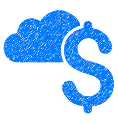 Cloud banking grunge icon vector