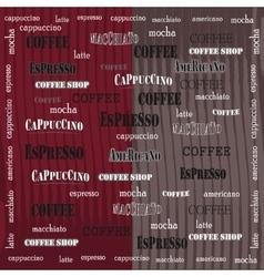 Coffee wallpaper red brown grange vector image
