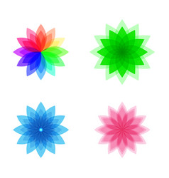 Colorful stylized flower set vector