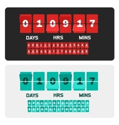 Countdown clock digits board New year and vector image