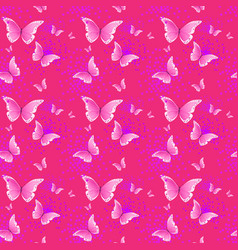 cute pink seamless pattern background vector image