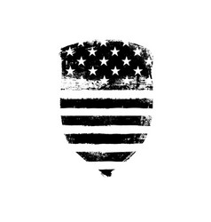defence symbol shield icon shaped american flag vector image