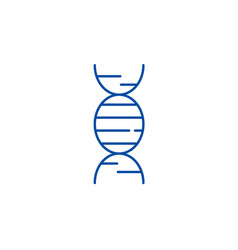 dna line icon concept dna flat symbol vector image