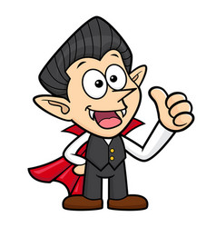 Dracula character thumb up gesture halloween day vector