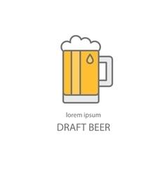 Draft beer logo template vector image