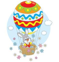Easter Bunny in a balloon vector image