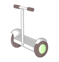 Electric segway icon cartoon style vector