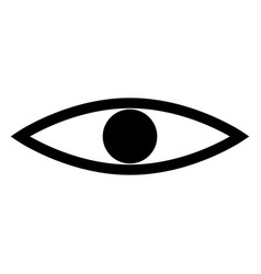 eye the black color icon vector image