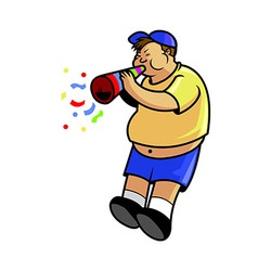 Fatboy blow trumpet vector