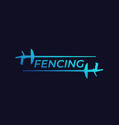fencing logo with foils vector image