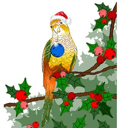 Festive Parrot Background vector