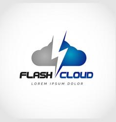 flash cloud logo design symbol vector image