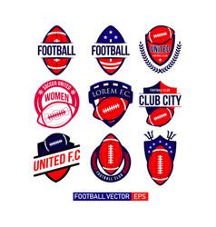 football club set logo template design vector image