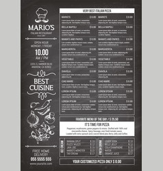 For an italian pizza menu vector