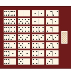 Full set for a game of dominoes interface vector