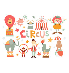 funny circus set vector image