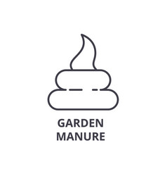 garden manure line icon outline sign linear vector image