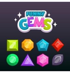 Gems set vector