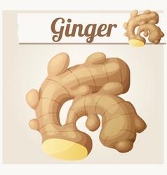 Ginger cartoon icon vector