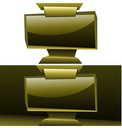 golden widescreen display panelboard origami vector image
