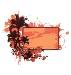 Grunge summer floral frame vector