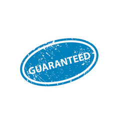 guaranteed sign sticker stamp texture vector image