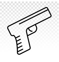 Handheld revolver gun pistol flat icon vector