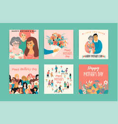 Happy mothers day templates vector