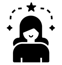 Influencer female solid vector