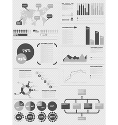 INFOGRAPHIC DEMOGRAPHICS 5 GREY vector image