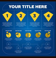 infographics elements - pie chart 4 steps vector image