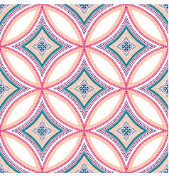 intricate mandala pattern blue background vector image