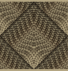 knitted 3d seamless pattern ornamental knitting vector image