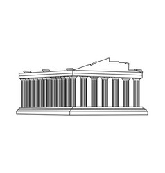 Line medieval athens architecture clastle design vector