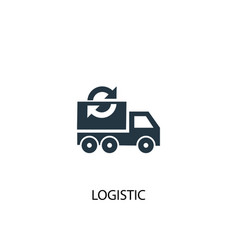 logistic icon simple element vector image