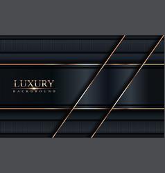 Luxury dark navy background with golden lines vector