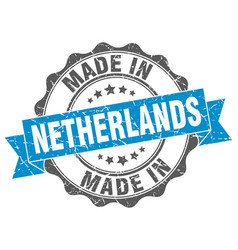 Made in netherlands round seal vector
