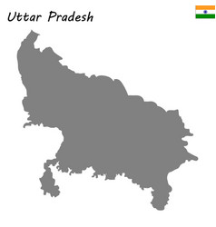 Map of state of india vector
