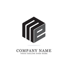 me initial logo designs creative logo vector image
