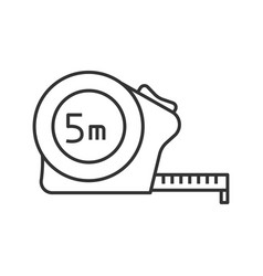 measuring tape linear icon vector image