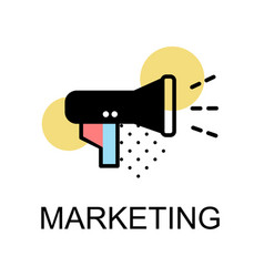 Megaphone icon for marketing on white background vector