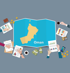 oman country growth nation team discuss with fold vector image