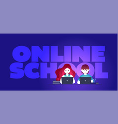 online education self learning concept vector image
