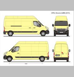 Opel movano cargo delivery van 2015 l3h3 vector