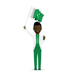 Pakistan flag waving man vector