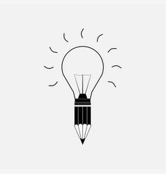 piktorgama bulb icon vector image