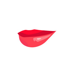 red sexy doodle woman lips vector image