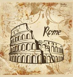 Rome colosseum vector