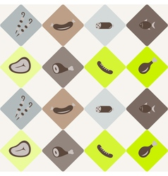seamless abstract background with meat products vector image